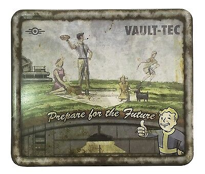 collectable FanWraps Fallout 4 Vault-Tec Weathered Tin Tote lunch box NEW