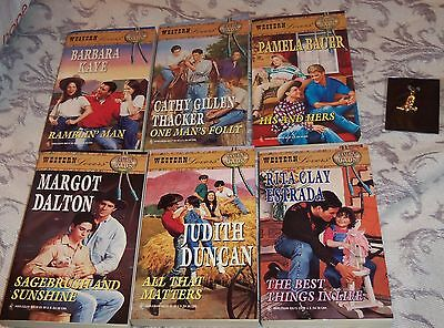 Harlequin western lovers 6 books Ranchin dads new 1980's His & her's one man's f