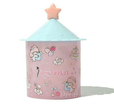 6Cute Little Twin Stars Cosmetic Case Q-tip Storage Holder Cotton Pad Swab Box
