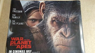 War For The Planet Of The Apes Official Cinema Quad Poster