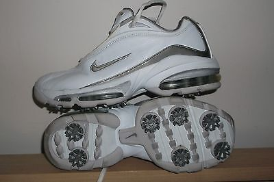 Stunning Pair Of Nike Air Golf Ladies Trainers Shoes,ful Leather,size Uk 4 Adult