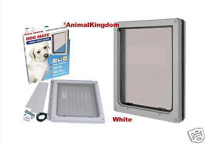 Pet Mate Dog Mate Dog Flap Large Door White 216W