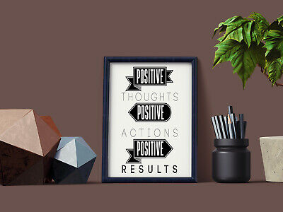 Motivational Inspirational Positive Thoughts Quote Poster Picture Print Wall 8