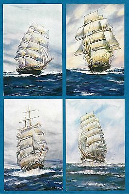 4 x C1960'S SAILING BOAT PC by A. F. D. BANNISTER - SALMON PUBLISHED