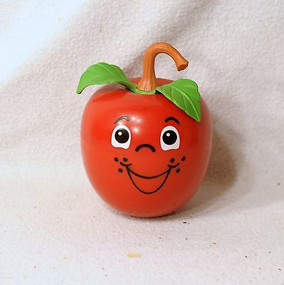 Vintage Fisher Price Happy Apple chime LONG stem version (1972)
