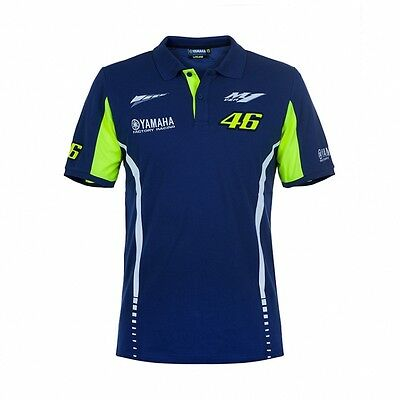 2017 OFFICIAL Moto GP VR46 Valentino Rossi Yamaha Team 46 Polo shirt MENS – NEW