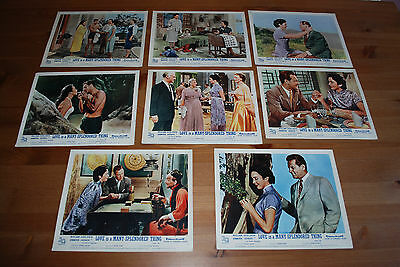 Vintage Cinema Lobby Cards - Love Is A Many Splendored Thing, 1955 - Set of 8