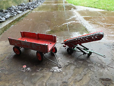 Vintage Lone Star Conveyor Trailer and Crescent Fordson tractor Trailer