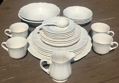 25 Pieces Mint Harmony House Federalist White Ironstone No Chips Or Crazing