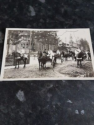 Unknown location wedding with horse cart