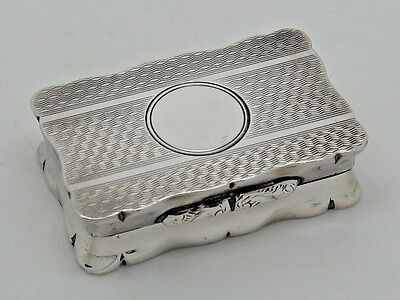 Antique Silver Snuff box Birmingham 1920 Quality