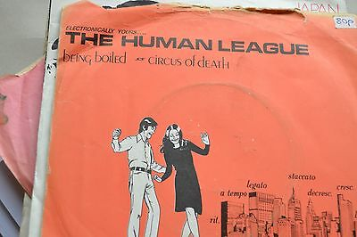 "Human League   Being Boiled       Circus Of Death       7"" Vinyl Ex Con"