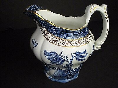 """BOOTHS china REAL OLD WILLOW A8025 pattern CREAMER cream pitcher JUG 3-1/4"""""""