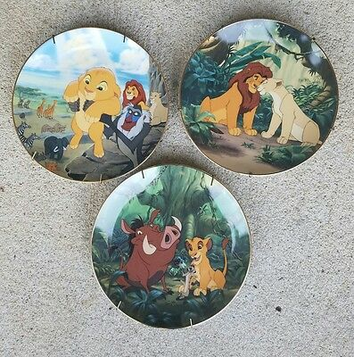 3 Bradford Exchange Disney - Lion King Limited Edition Plates 1, 3 & 6