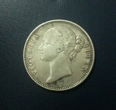 East India Queen Victoria 1840 Indian One Rupee Silve