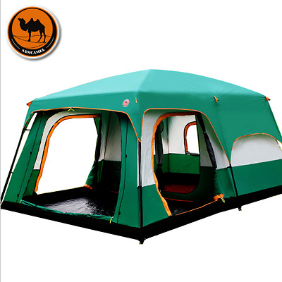 Camel Outdoor 12 Person Family Large Waterproof Camping Tent Inflatable Shelter