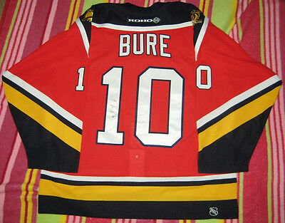 Pavel Bure SIGNED AUTHENTIC NHL Jersey + Team AUTOGRAPHED Florida Panthers