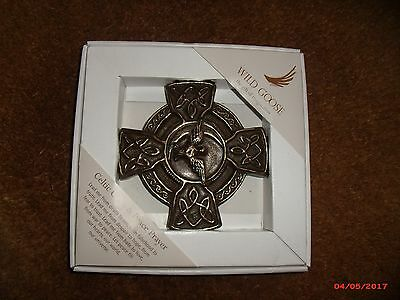 Boxed celtic cross and peace prayer by Wild Goose
