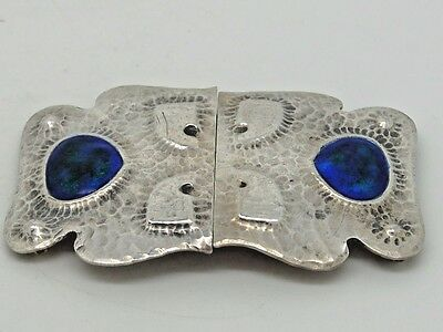 Antique Edward VII Silver & Enamel Belt Buckle Birmingham 1910 – Liberty & Co
