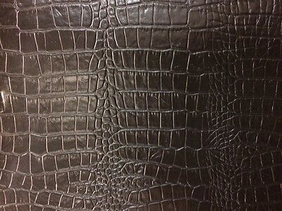 Leather Hide Skin Whole Backs Black Crocodile print Absolute bargain buy!!