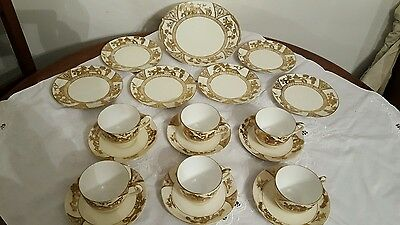 Noritake, Gold pagoda  tea set 19 piece