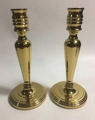 Baldwin Set of 2 Brass Candlestick Holders 7 1/4""