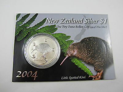 New Zealand 2004 $1 Silver 1 Ounce Kiwi In Original Packaging - Buy It Now!