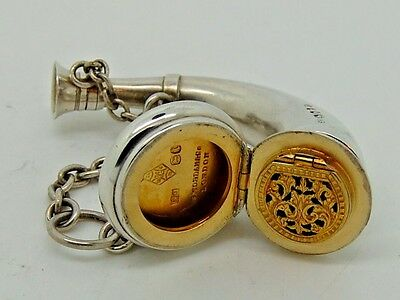 Antique Victorian Silver Vinaigrette / Scent Bottle London 1874 – Sampson Mordan