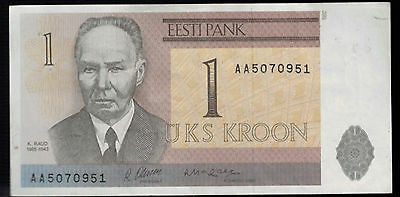 Estonia 1992 1 Crown Banknote