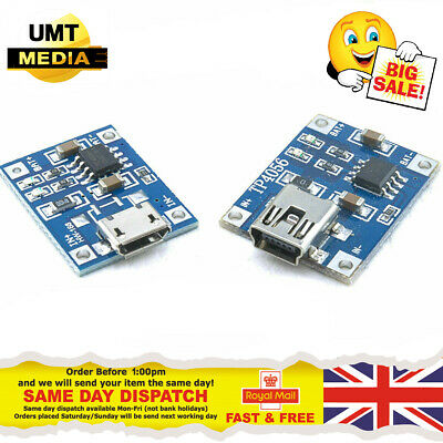 TP4056 5V Mini USB Lithium Battery Charging Board Charger Module Arduino PI