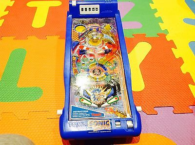 Vintage **Sonic**The Hedgehog Pinball Machine Game Tomy 1992 100% Working