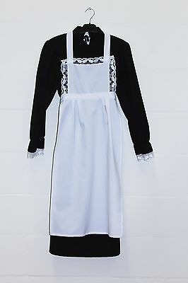 Girl's Black&White Victorian Maid Costume School Trips,Plays 164cm age 13/14 (8)