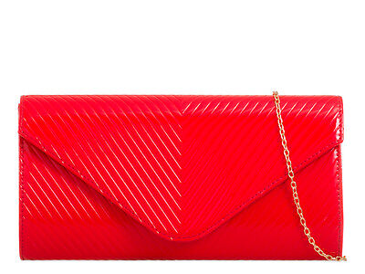Patent Quilted Elegant Fashion Style Ladies Evening Party Clutch Bags CH2262