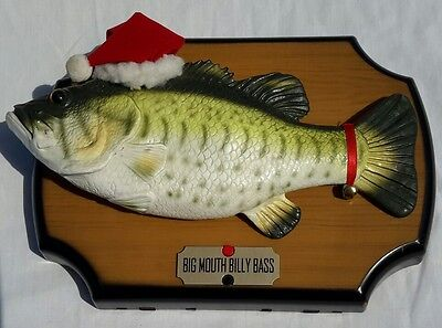 Big Mouth Billy Bass Christmas Edition 1999 Singing  **********REDUCED**********