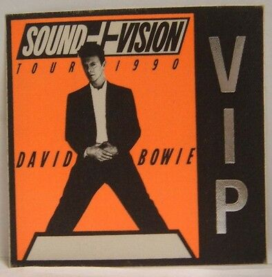 David Bowie - Vintage Original Cloth Backstage Concert Tour Pass