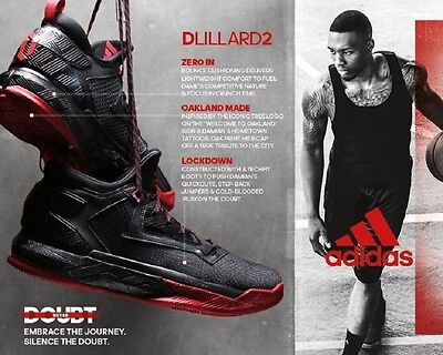 NEW Adidas D LILLARD 2 Basketball MENS TRAINERS Black Red UK 7 8 9 10 11 12 BNIB