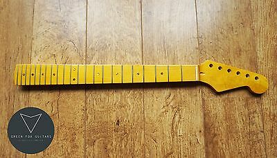 Strat Stratocaster Canadian Maple and Abalone Electric Guitar Neck Gloss 22 Fret