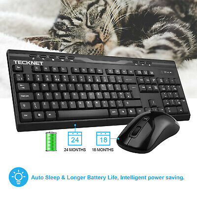 TeckNet X300 2.4Ghz Full-Size Ergonomic Wireless Keyboard and Mouse Combo