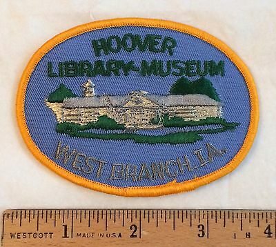 Herbert Hoover Presedential Library-Museum West Branch Iowa IA Embroidered Patch