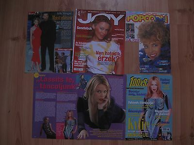 Kylie Minogue Big Clipping Lot Articles Poster Magazine Covers Adverts