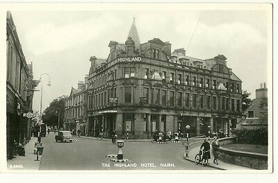 Nairn - a photographic postcard of The Highland Hotel
