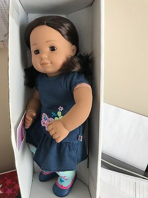 American Girl Bitty Twin 1 Doll Brown Hair Brown Skin 5G NEW