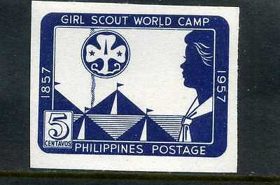 Girls Scouts Of Philippines-  'world'  Cent.  1857- 1957   Imperf. ''rare'' Mnh