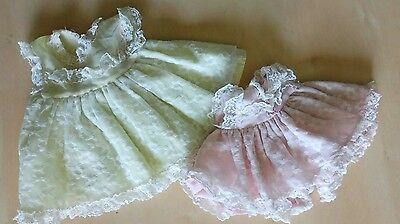 Vintage Vogue Doll Clothes Dresses Tagged Floral Two Sizes TLC