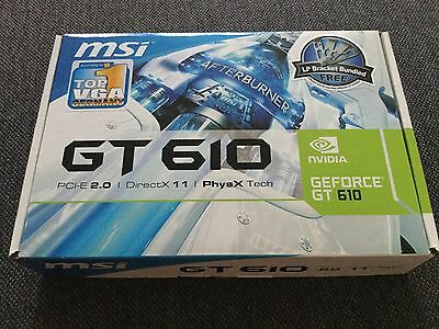 MSI Carte graphique GeForce GT 610 1Go DDR3 1xVGA 1x HDMI 1x DVI PCI