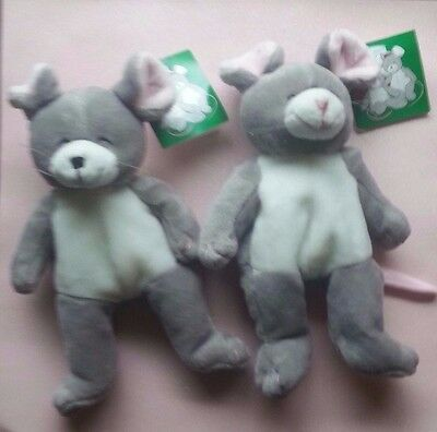 SNIFFY & SNUFFY Plush Bean MICE - MARY MEYER Yankee Candle Mascots- NEW w/ TAGS!