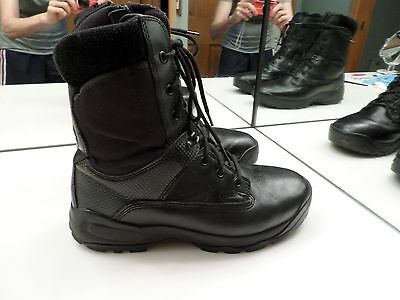 """5.11 Black Leather Atac 8"""" Side Zip Tactical Boot - Size 11.5 - Nice Used Condit"""