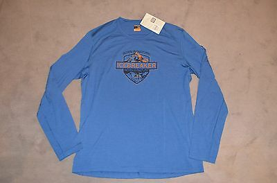 Icebreaker Men Long Sleeve Crew Oasis Alpine Crest in Gr.XL Neu!!!