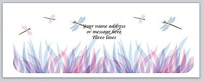 30 Personalized Return Address Labels Dragonflies Buy 3 get 1 free (bo 688)