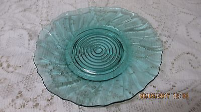 Ultramarine Swirl Depression Glass Pattern Small Plate 5 3/4""